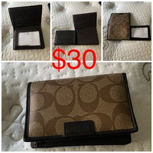 Coach mens trifold wallet for Sale in Los Angeles, CA
