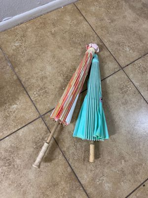 Oriental wooden paper cloth hand-painted umbrellas for Sale in Phoenix, AZ