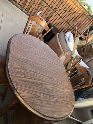 Small wood kitchen table with 4 chairs for Sale in Phoenix, AZ