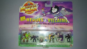 VINTAGE MIGHTY MAX HEROES & VILLAINS COLLECTION #1 NEW RARE KIDS TOYS MATTEL for Sale in San Jose, CA