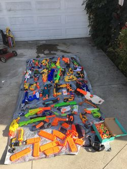 Nerf -guns -rifles (BEING SOLD AS A LOT) If You Still See This It Is Still For Sell for Sale in Downey,  CA