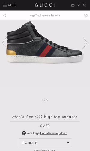 Gucci Ace Gg High-Top for Sale in Pomona, CA