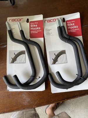 Bike hooks - never used - 2 sets of 2 for Sale in Dublin, OH