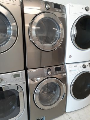 Samsung front load washer and electric dryer set used good condition with 90 day's warranty for Sale in Mount Rainier, MD