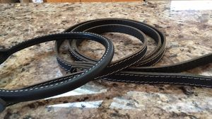 Brand new high quality black leather dog leash and collar set for Sale in Centreville, VA