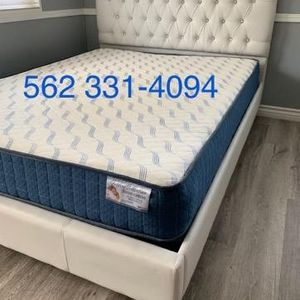 ⚜New Queen White Tufted Diamond Button Bed w/New Mattress Included ⚜ for Sale in Fresno, CA