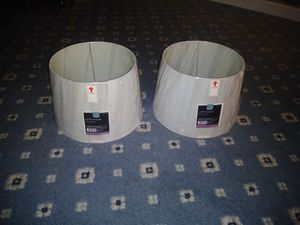 2 medium lamp shades - Off White for Sale in Burleson, TX