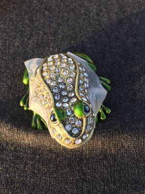 Frog jewelry box ring table dressing wedding Christmas gift for Sale in Garden Grove, CA