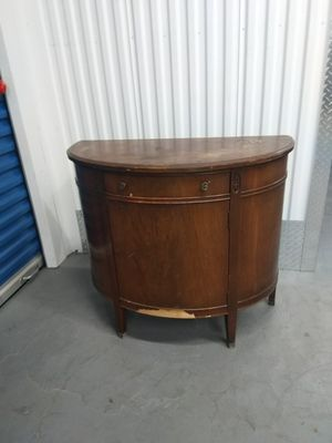 Genuine mahogany buffet cabinet solid wood antique DIY server for Sale in Takoma Park, MD