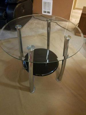 2 Modern Glass Side Tables for Sale in Redmond, WA