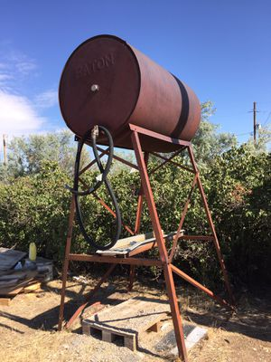 Steel tank with stand for Sale in Watkins, CO