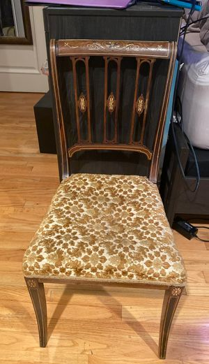 Antique floral inlay chair (single) for Sale in Woodland Hills, CA