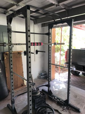 Ironman Squat Rack, Barbell, and Weights for Sale in Miami, FL