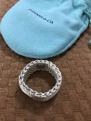 Authentic Tiffany & Co - flexible ring. 925. Size not sure if 7or 8 for Sale in Chino Hills, CA