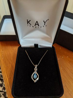 Kay sterling silver necklace with blue topaz & diamond for Sale in Phoenix, AZ