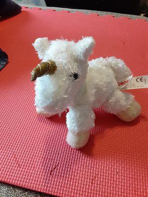 "Aurora White Unicorn Plush 8"" Stuffed Animal Gold Horn Purple Eyes for Sale in Lehigh Acres, FL"