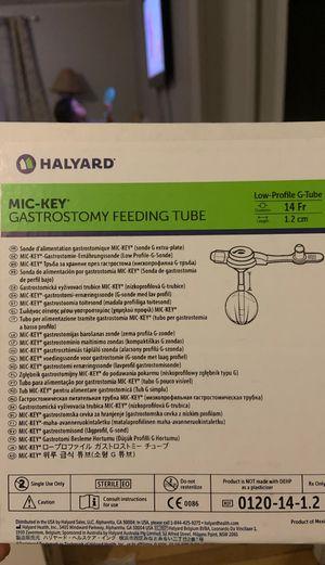 Halyard Mic Key Gastrostomy Feeding TUBE 14fr 1.2 for Sale in Davenport, FL