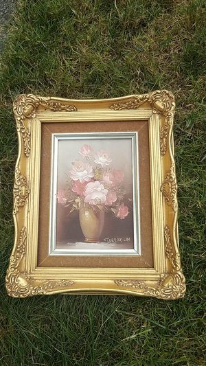 Antique floral painting for Sale in Puyallup, WA