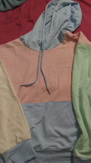 Lightweight blue, yellow, green and pink hoodie for Sale in San Diego, CA