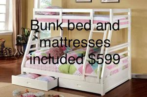 Bunk Bed w/ mattress included on sale!! for Sale in Visalia, CA