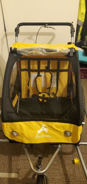 Aosome 2 in 1 kid bike trailer and Jogger stroller for Sale in Concord, CA