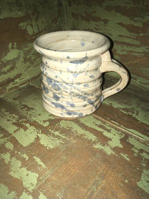 "Hand Spun Clay Stoneware Pottery Art Signed Coffee Cup Mug - 3-3/8""D x 3-1/2""H for Sale in Citrus Heights, CA"