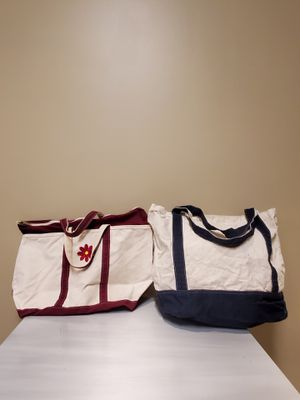VERY LARGE, HEAVY-DUTY COTTON CANVAS TOTES (2) for Sale in Arlington, VA