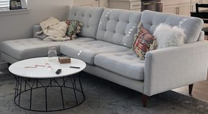 World Market Grey Chaise Couch for Sale in Eagle Mountain, UT