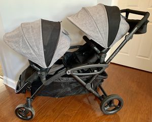 Contours® Options® Elite Tandem Stroller in Graphite for Sale in Charlotte, NC