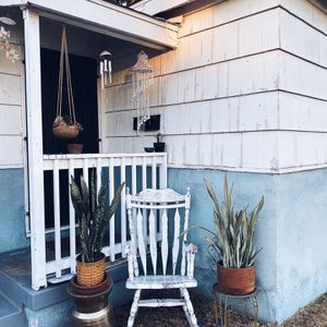 Outdoor Whitewashed Wood Rocking Chair for Sale in National City, CA