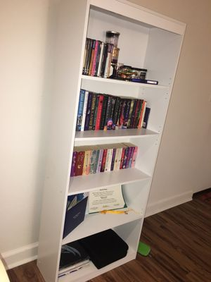 5-Shelf White Bookcase for Sale in Alexandria, VA