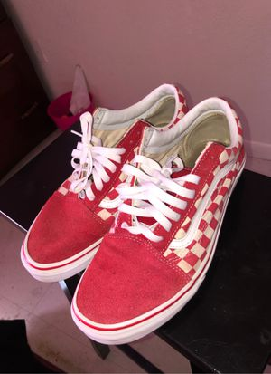Red checker vans size 10.5 for Sale in Fort Pierce, FL