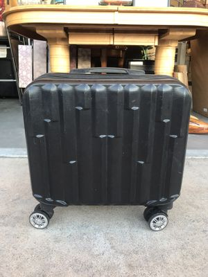Modern black hard shell carry on luggage for Sale in Las Vegas, NV