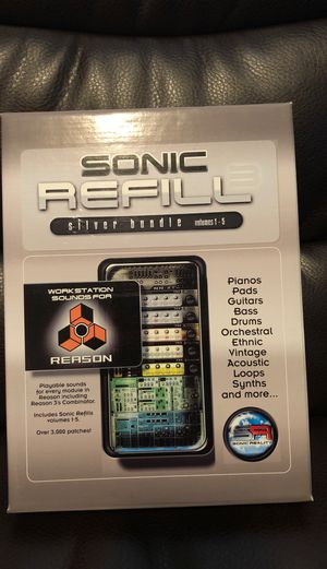 Sonic Refill library for Reason DAW for Sale in San Antonio, TX