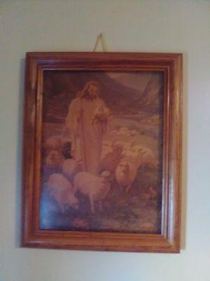 Antique Jesus pic for Sale in Wichita, KS