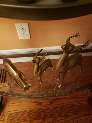 Mid century brass deer for Sale in Chicago, IL