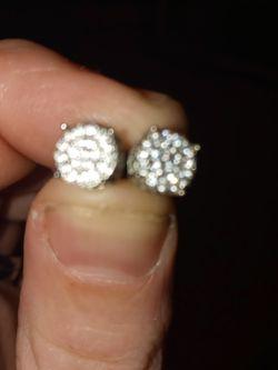 10kt White Gold Earrings 0.35 Carat Diamonds for Sale in Milton,  FL