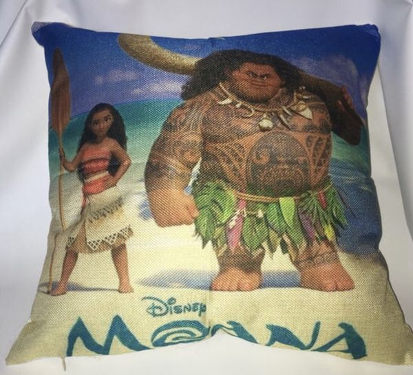 Moana Pillow 17 x 17 Disney Moana Pillow Cotton Linen