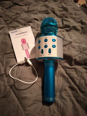 Blue kids microphone for Sale in Columbus, OH