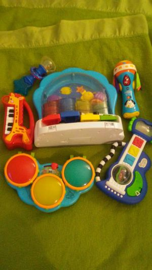 Baby toy musical instruments bundle runs on batteries for Sale in Denver, CO