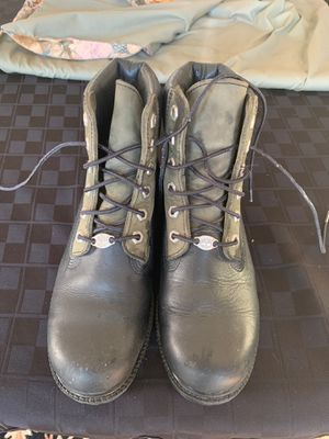 Ladies Black and Green Timberland Boots- size 7.5 for Sale in VINT HILL FRM, VA