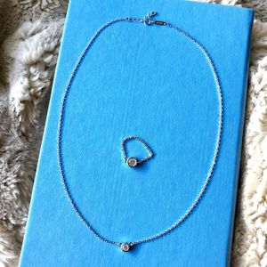 Diamond by the yard necklace & earring set for Sale in Denver, CO