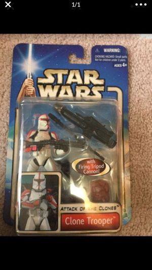 Star Wars Clone Trooper with firing tripod cannon Action Figure for Sale in Cibolo, TX