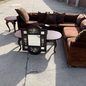 Living Room Set With Couch And Mirror for Sale in Stone Mountain, GA