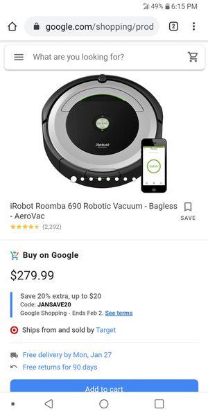 Irobot roomba 690 for Sale in Scottsdale, AZ