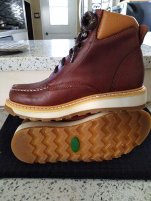 Leather Work Boots-Bota de Trabajo de Mexico de Piel for Sale in Orange, CA
