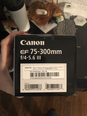 Canon EF 75-300 mm lens for Sale in Austin, TX