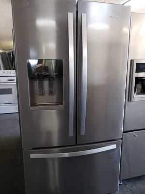 On Sale Whirlpool Refrigerator Fridge 36in Wide Free Delivery #845 for Sale in Ontario, CA