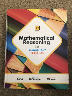 Mathematical Reasoning for Elementary Teachers for Sale in Walla Walla, WA