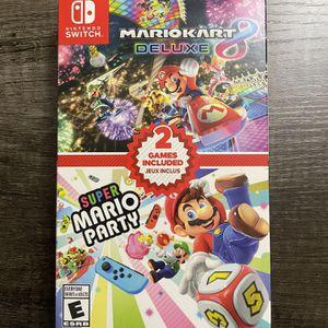 Mario Kart Deluxe 8 & Super Mario Party Bundle Nintendo switch NEW for Sale in Edison, NJ